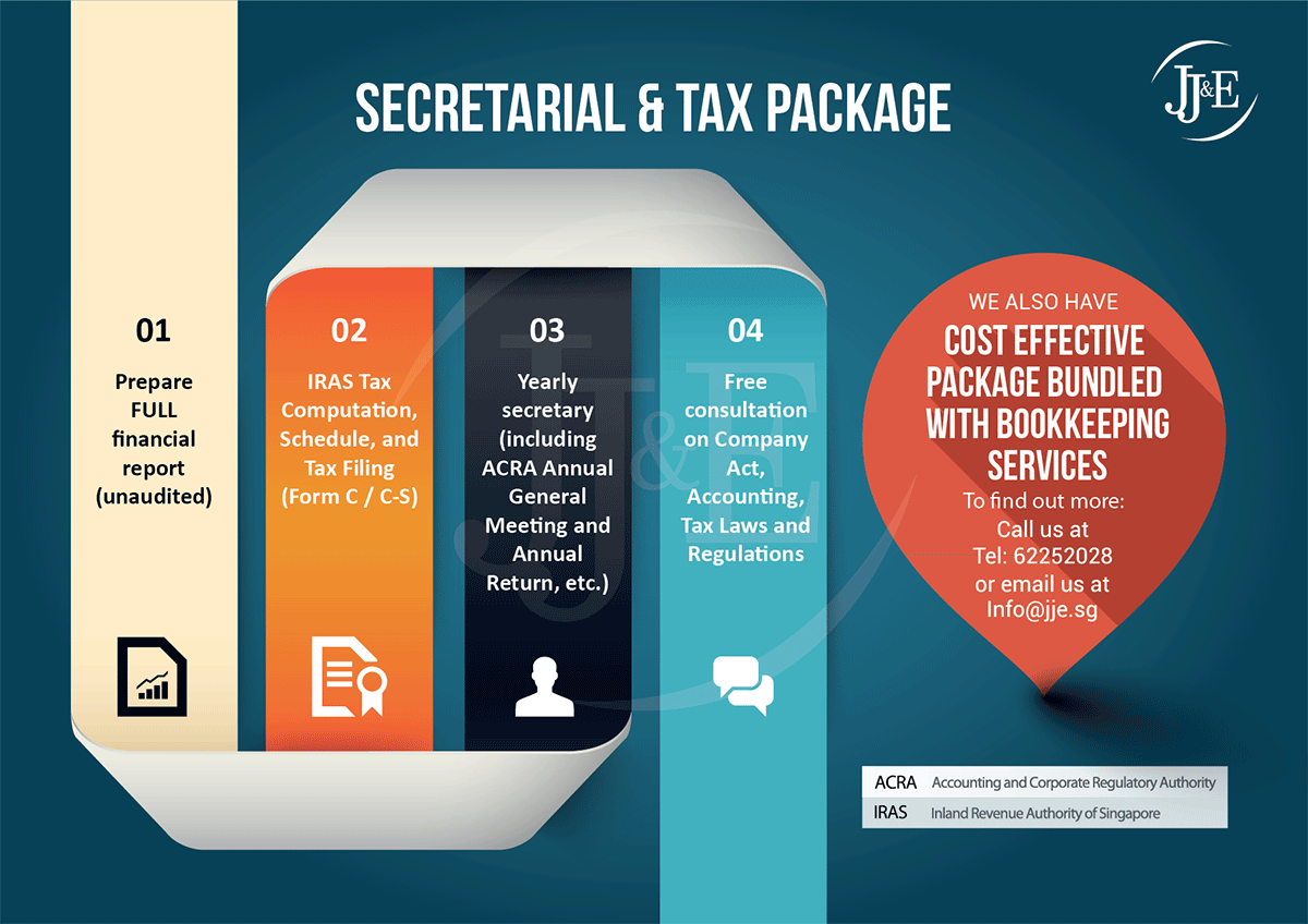 JJ&E company annual secretary and tax package