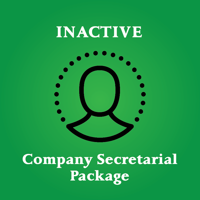 company secretarial and tax package inactive